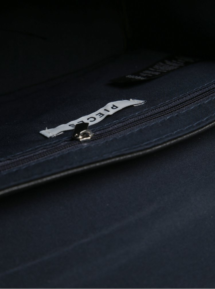 Černá koženková crossbody kabelka Pieces Jadak