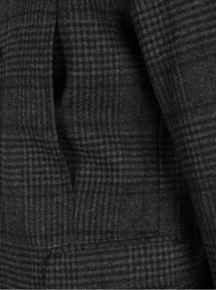 Palton gri din amestec de lana Selected Homme Mosto