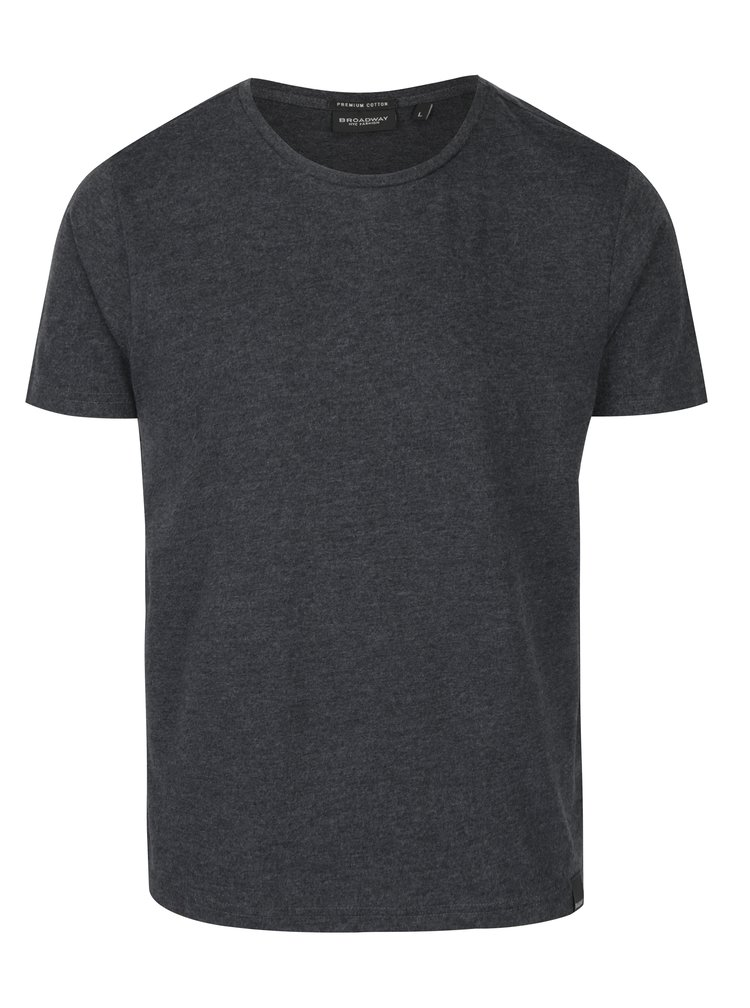 Tricou basic gri inchis Broadway Kirk