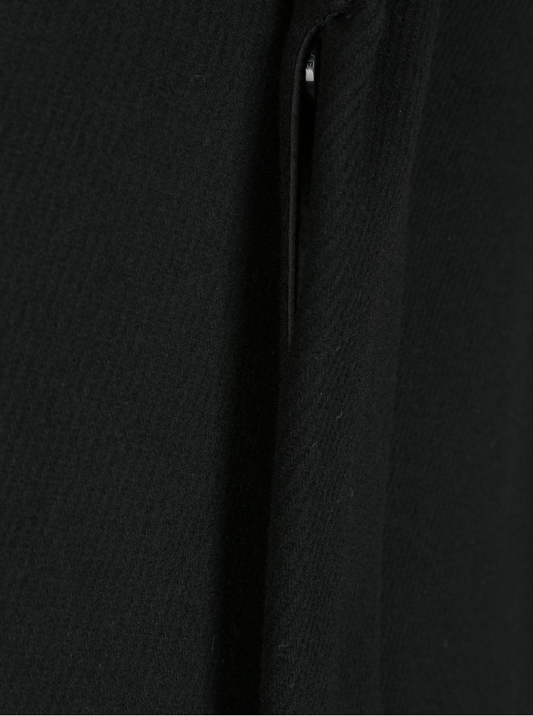 Palton negru din amestec de lână Selected Homme Brove
