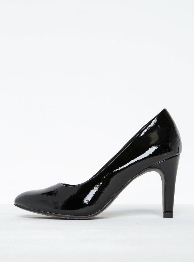 Pantofi negri de lac cu toc stiletto Tamais