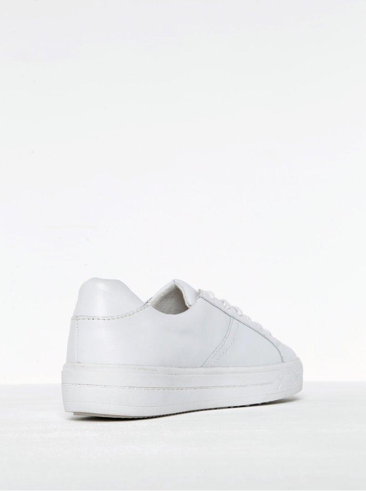 Bílé kožené tenisky na platformě Tamaris
