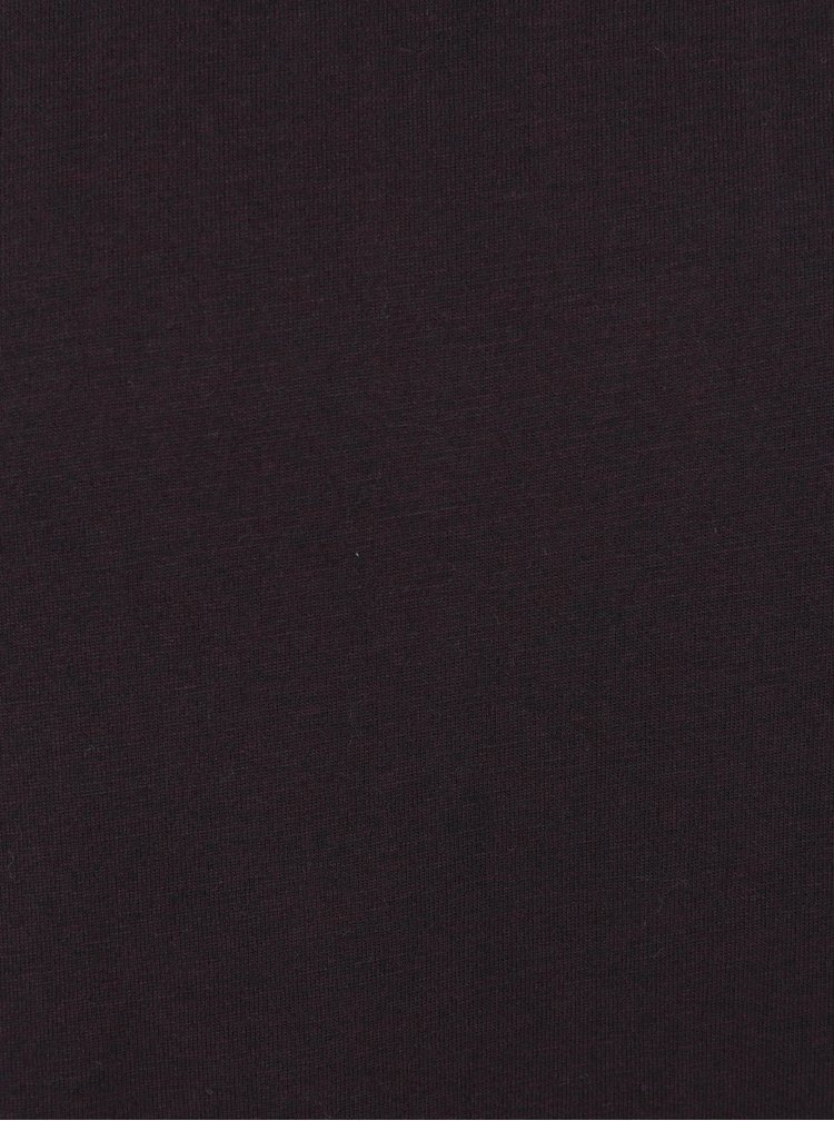 Vínové pánské tričko s krátkým rukávem Broadway Kirk