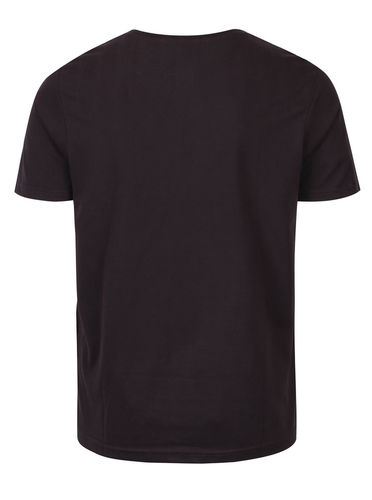 Tricou basic bordo cu decolteu rotund Broadway Kirk