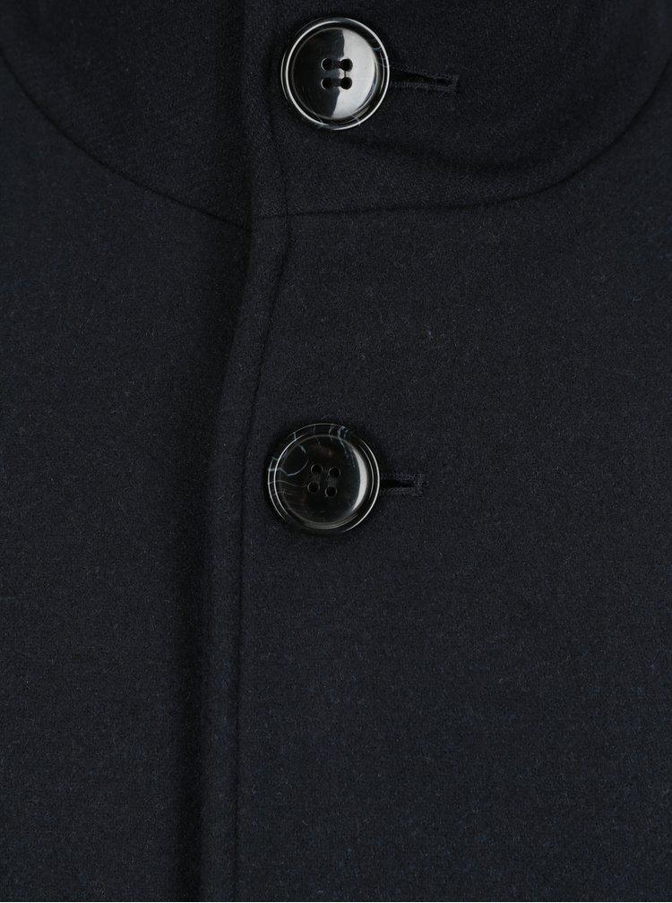 Palton bleumarin din amestec de lână Selected Homme Mosto