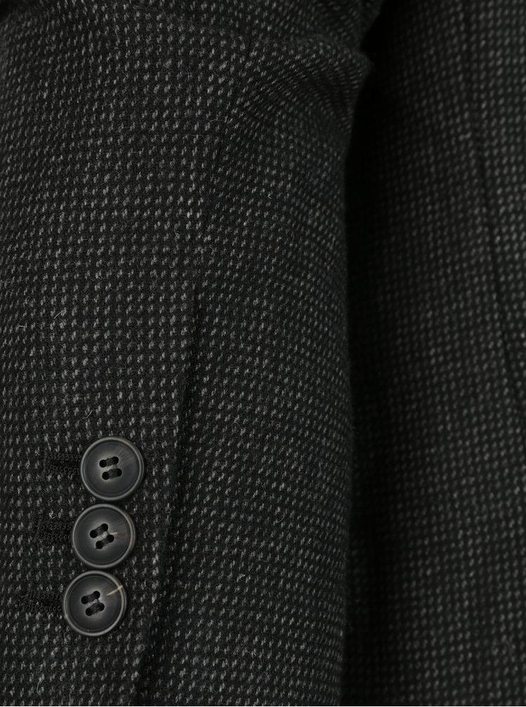 Sacou gri inchis din amestec de lana Selected Homme Hone