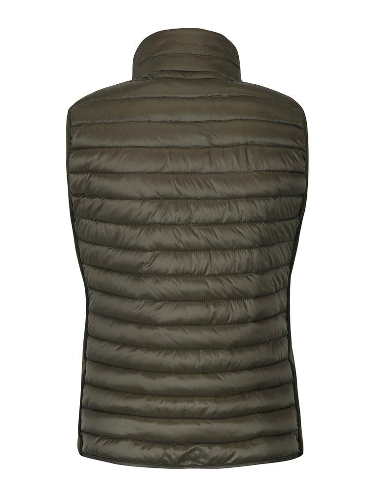 Tmavě zelená dámská prošívaná vesta Broadway Lacie