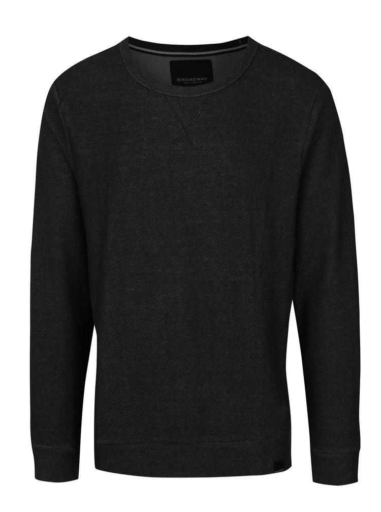 Bluza neagra cu decolteu rotund Broadway Orhan