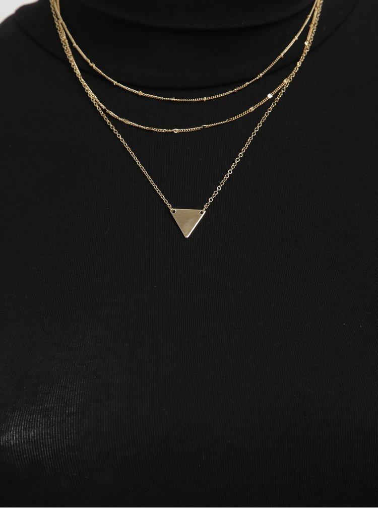 Tři řetízky ve zlaté barvě Pieces Risa