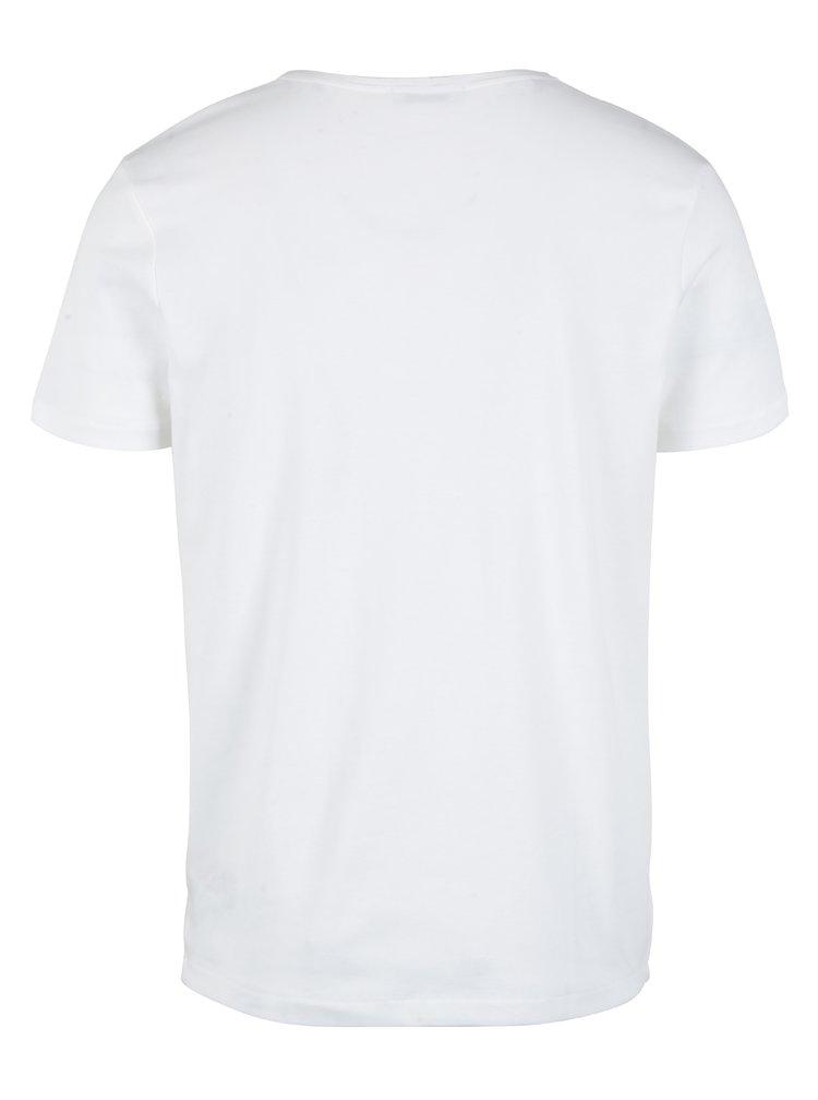 Tricou alb cu buzunar Selected Homme Fin