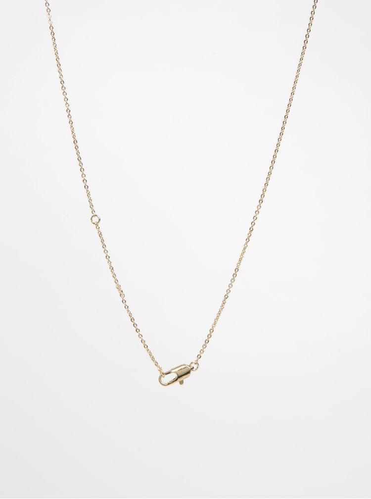 Lanț auriu cu pandantiv pasăre - Pieces Ria