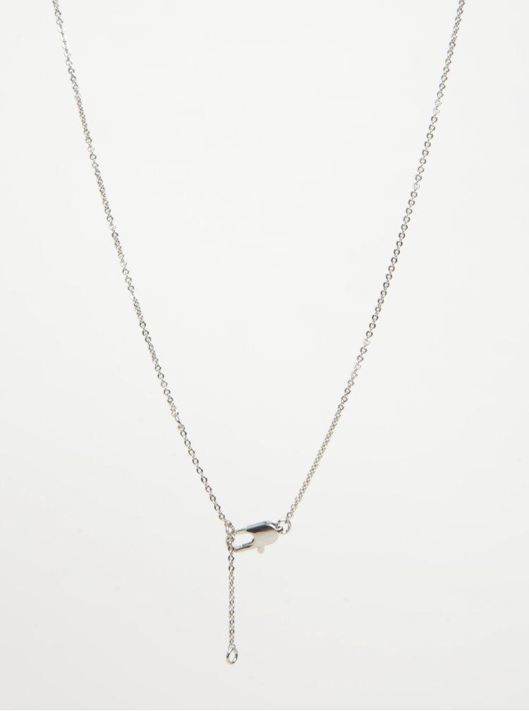 Colier argintiu cu pandantiv pasare - Pieces Ria