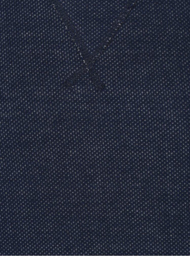 Tmavě modrá pánská mikina se vzorem Broadway Orhan
