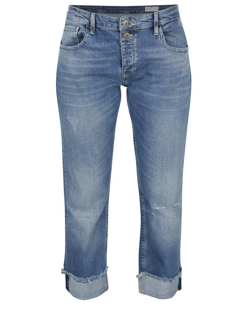 Světle modré dámské zkrácené straighet cropped fit džíny Cross Jeans