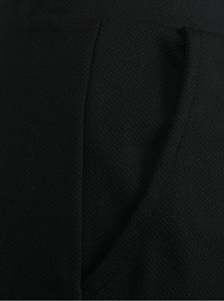 Černé dámské kalhoty s jemným vzorem Broadway Lida