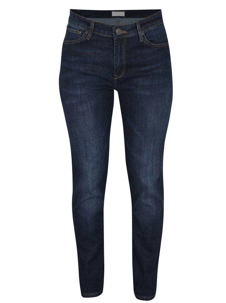 Blugi slim fit bleumarin cu talie inalta pentru femei - Cross Jeans