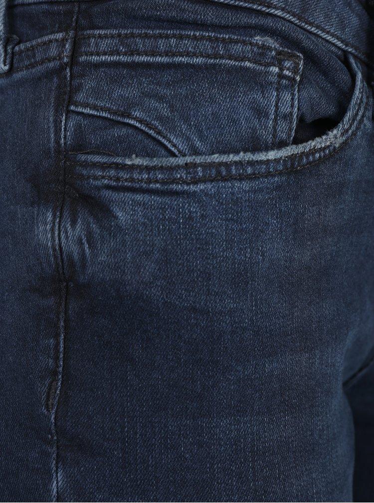 Modré dámské high waist regular fit džíny s vysokým pasem Cross Jeans
