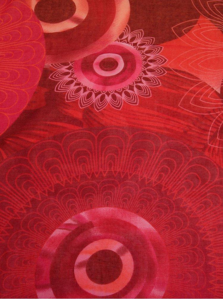 Esarfa multicolora cu model floral - Desigual Enrien