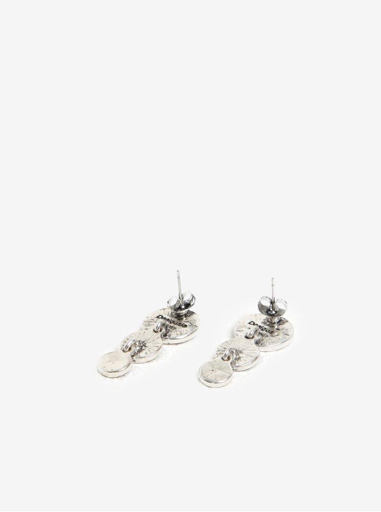 Cercei lungi cu print floral si surub - Desigual 36Bolas Florentina