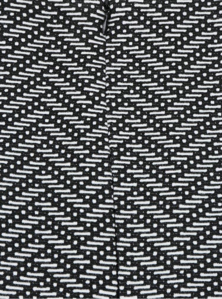 Fustă alb&negru cu model geometric LA Lemon