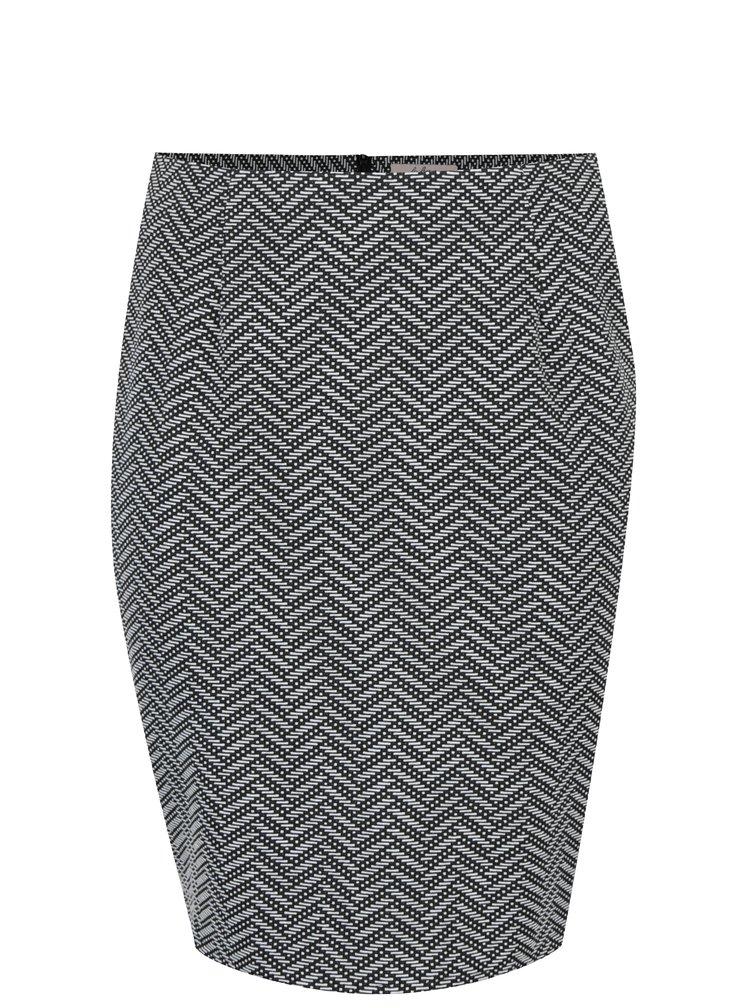 Fusta alb&negru cu model geometric LA Lemon