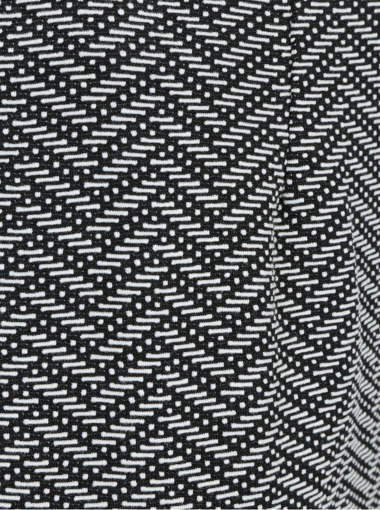 Bílo-černá vzorovaná pouzdrová sukně LA Lemon