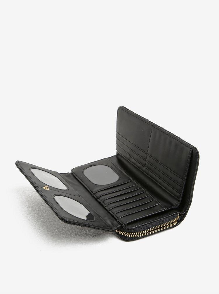 Černá peněženka s jemným vzorem Desigual Padded Lottie