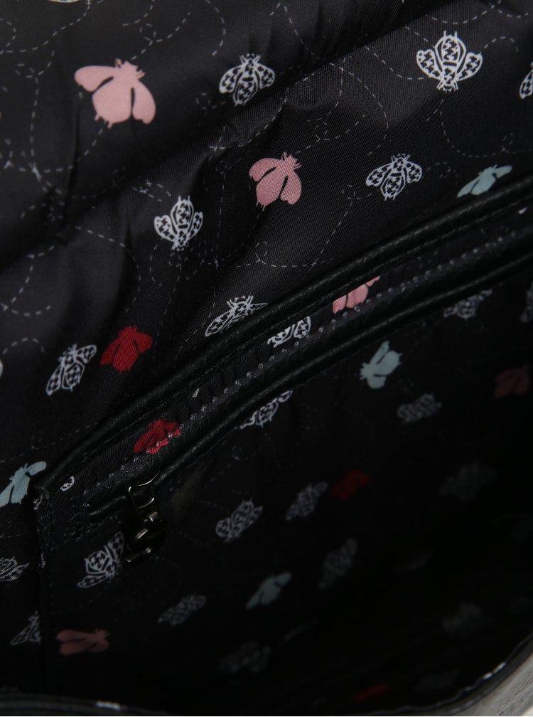 Černá vzorovaná crossbody kabelka Desigual Amberes Maxi Climber