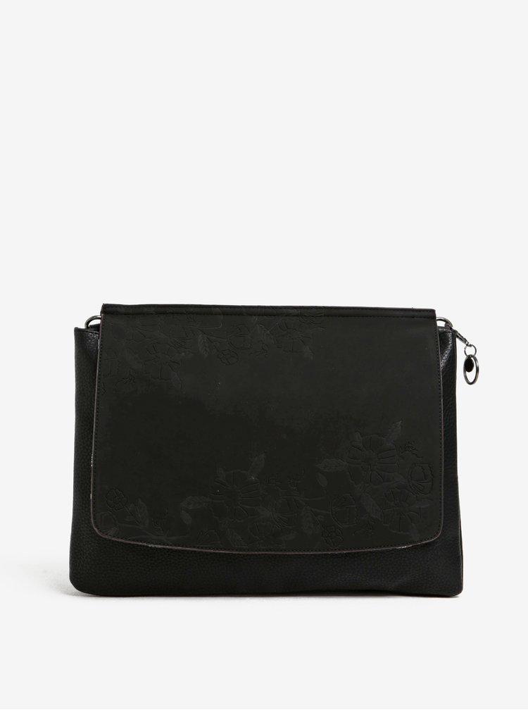 Geantă crossbody neagră cu baretă detașabilă - Desigual Amberes Maxi Climber