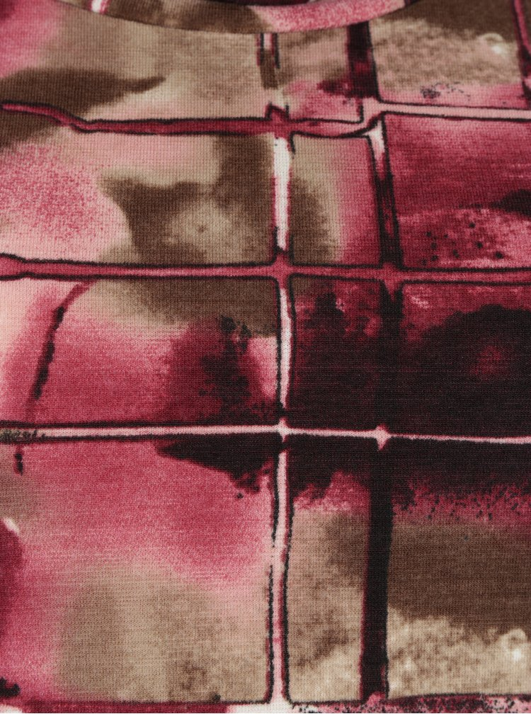 Rochie maro&roz cu model abstract LA Lemon