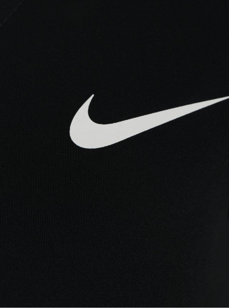 Černé dámské funkční tričko s véčkovým výstřihem Nike