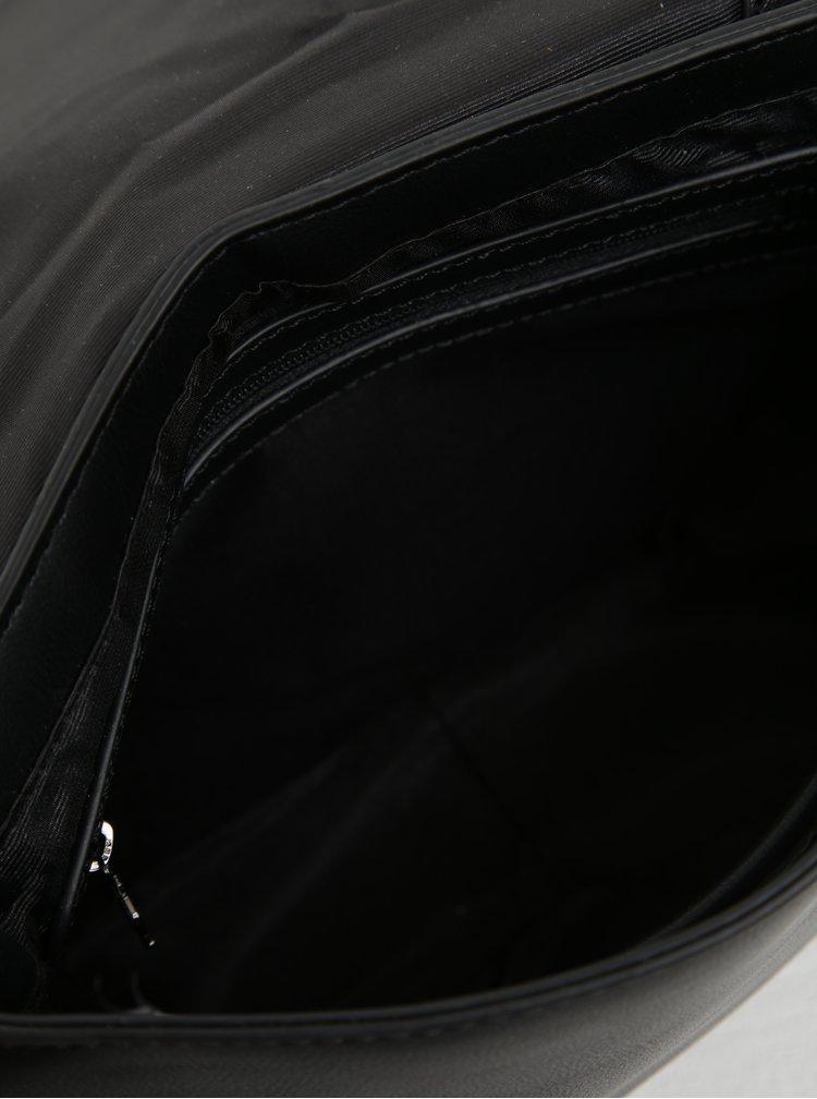Geanta neagra cu perforatii si ciucure decorativ - Desigual Turín Gossip