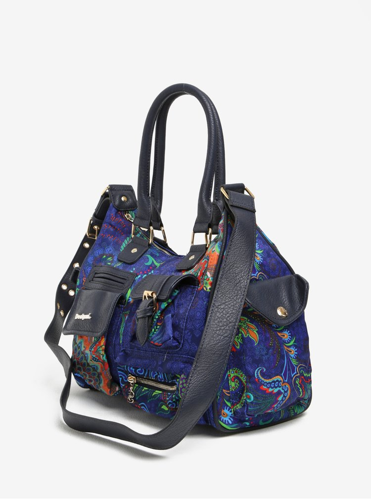 Geanta de mana / crossbody albastru & bleumarin Desigual London Medium  Atenas
