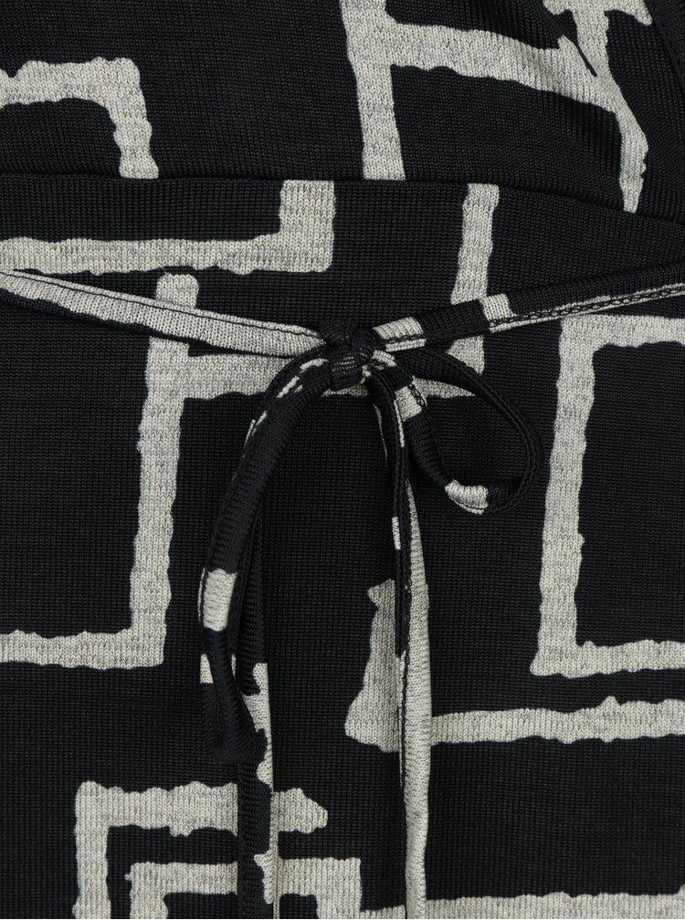 Černé vzorované šaty Smashed Lemon
