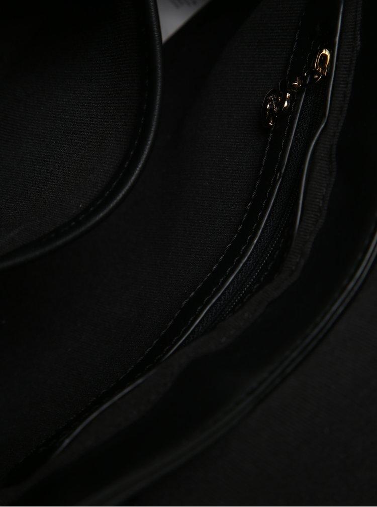 Geantă crossbody neagră cu model decorativ floral - Desigual Varsovia Lottie