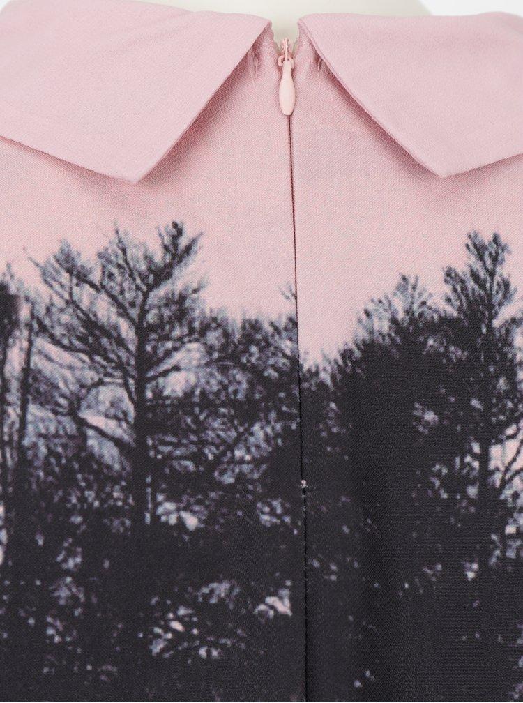 Růžové šaty s límečkem Smashed Lemon
