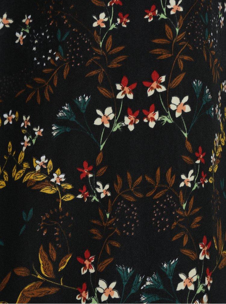 Černé květované šaty LA Lemon