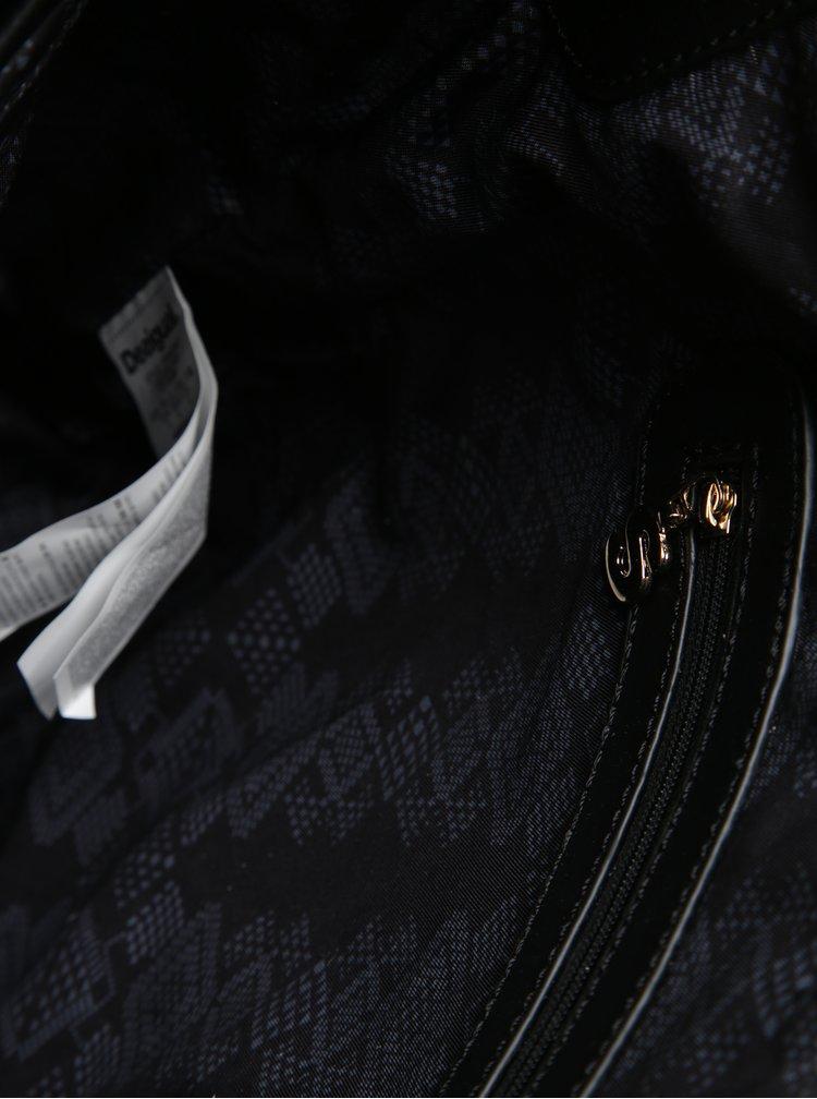 Krémovo-černá vzorovaná kabelka Desigual Lila Astún
