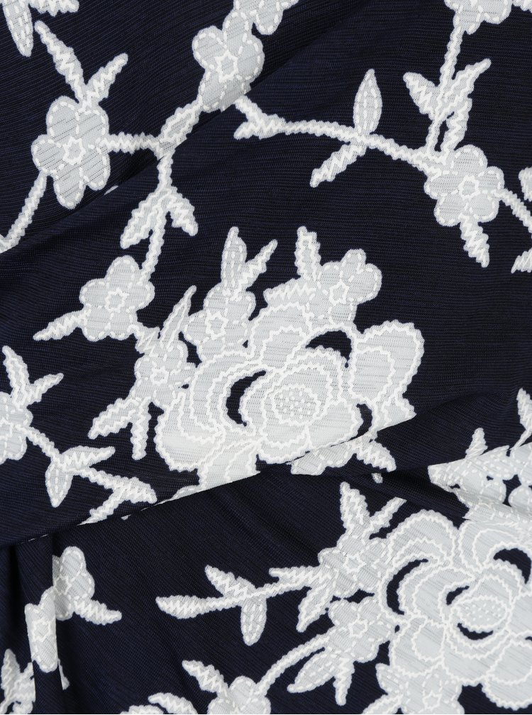 Rochie cu print floral si model suprapus Smashed Lemon