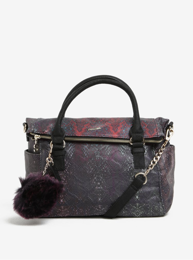 Fialová vzorovaná kabelka Desigual Loverty Ka
