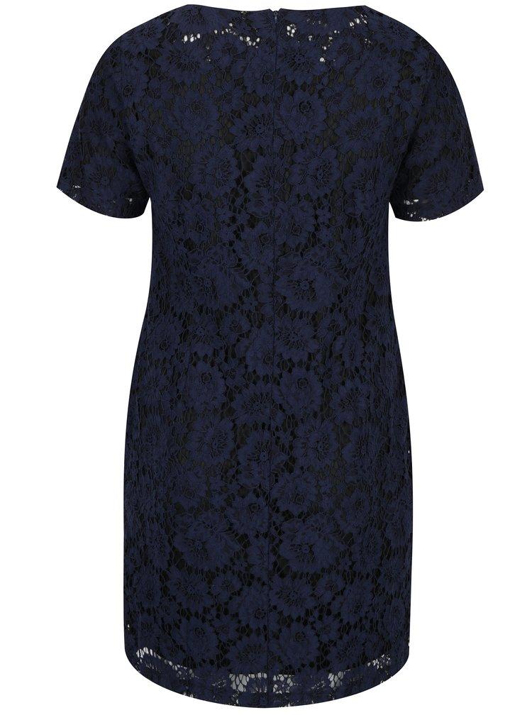 Tmavě modré krajkové šaty LA Lemon