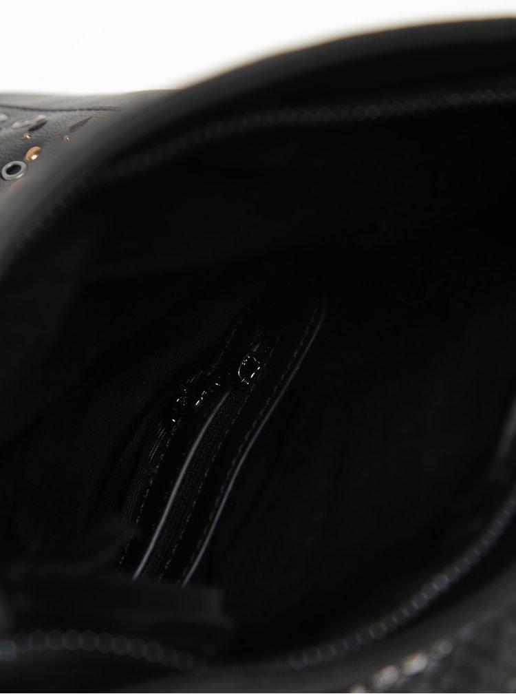 Rucsac negru cu perforații - Desigual Vic Gossip