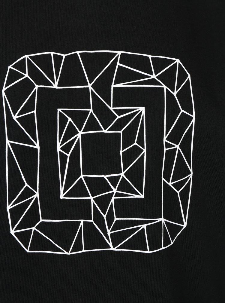 Černé pánské tričko s potiskem Horsefeathers Wireframe