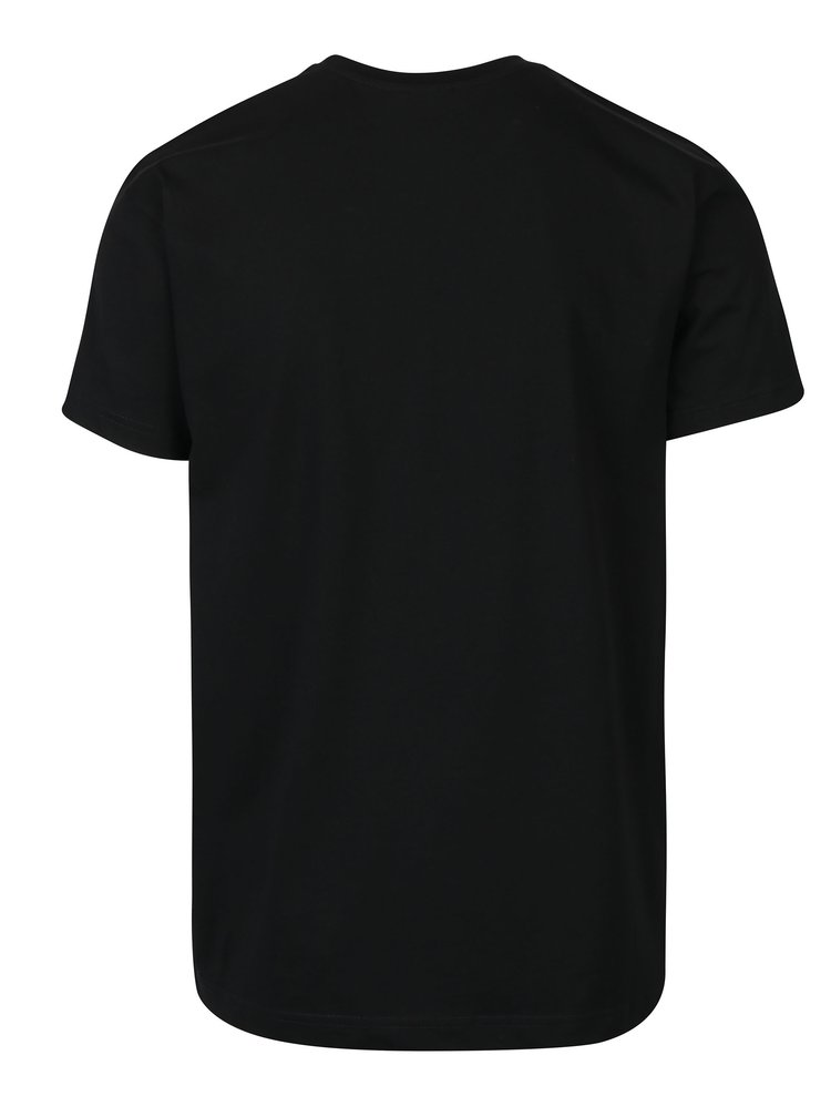 Tricou negru pentru barbati  Horsefeathers Wireframe