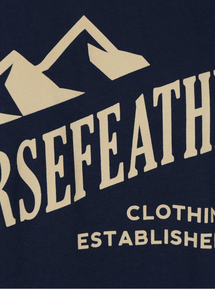Tricou bleumarin pentru barbati  Horsefeather Ripple