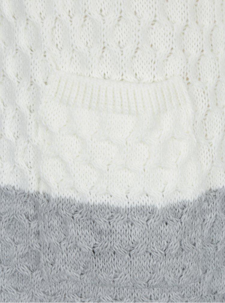 Krémovo-šedý pruhovaný kardigan Haily´s Cecilia