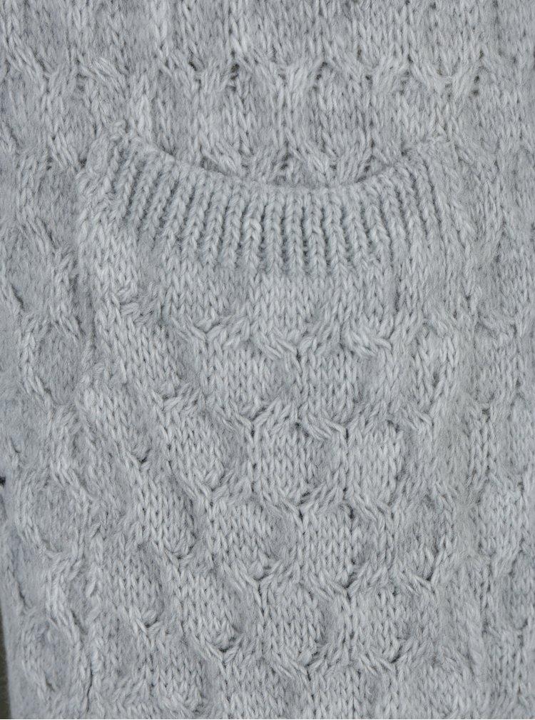 Šedý pletený kardigan s kapsami Haily´s Alba