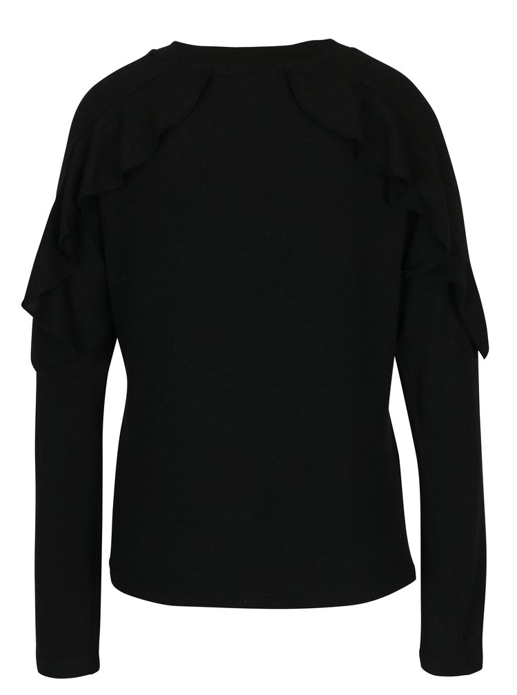 Černý svetr s volány Haily´s Vera