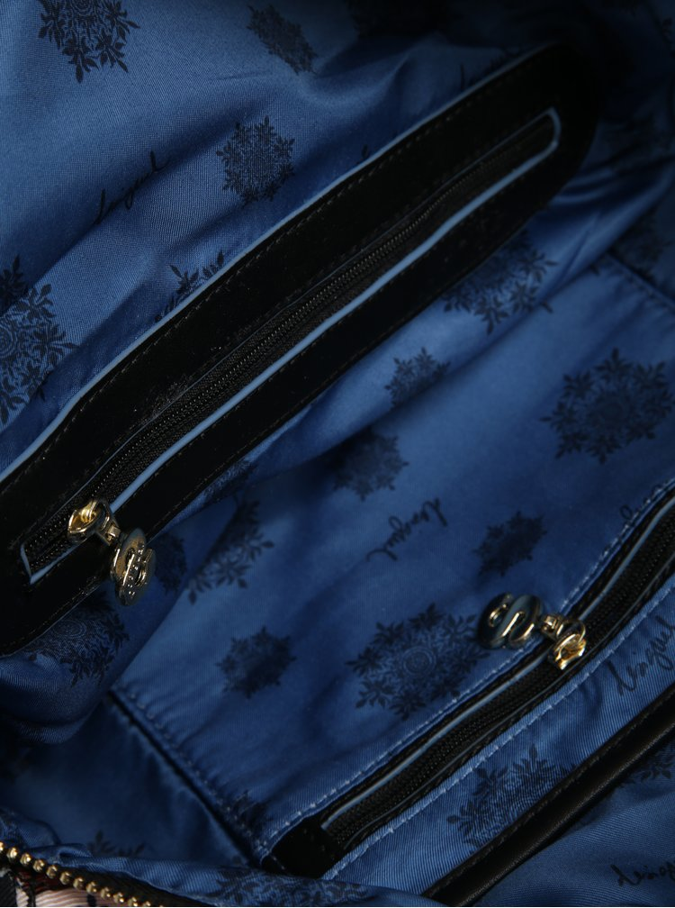 Geanta neagra cu print floral - Desigual San Marino Retro Fresh