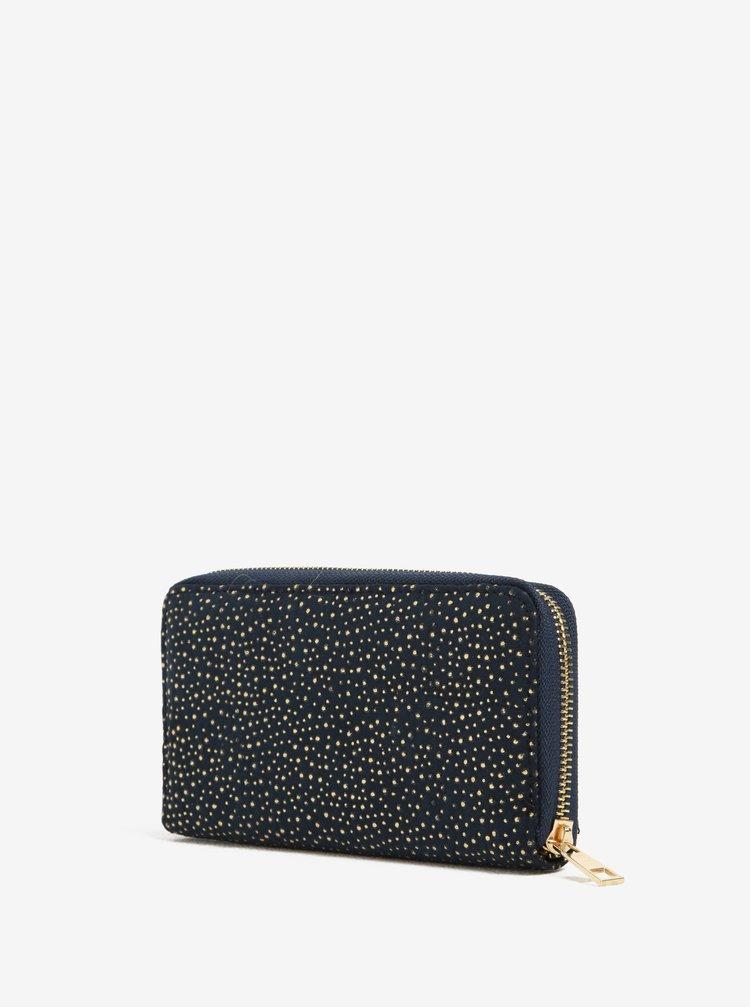 Tmavě modrá peněženka s aplikací ve zlaté barvě Haily´s Pam